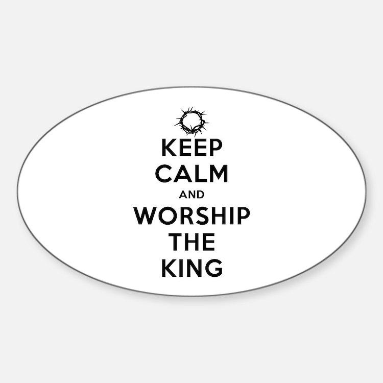 Keep Calm & Worship The King Decal