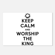Keep Calm & Worship The King Postcards (Package of
