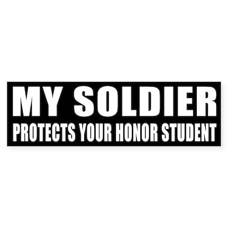 USA Honor Student Sticker (Bumper)