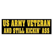 US Army Veteran Bumper Car Sticker