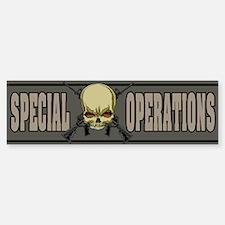 Special Ops Skull Bumper Car Car Sticker