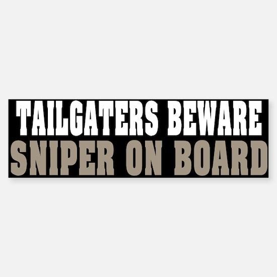 Sniper on Board Bumper Bumper Bumper Sticker