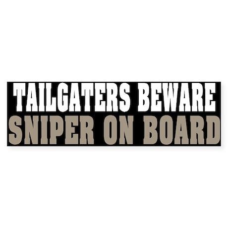 Sniper on Board Bumper Sticker