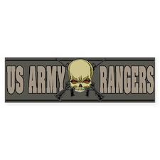 Rangers skull Bumper Bumper Sticker