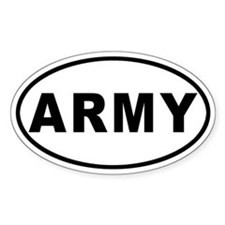 Army Oval Decal