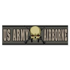 Airborne Skull Bumper Bumper Sticker