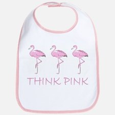 Breast cancer flamingo Bib