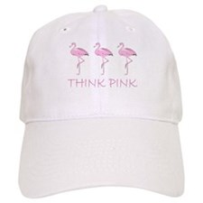 Breast cancer flamingo Baseball Baseball Cap