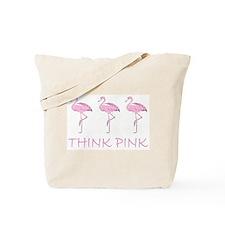 Breast cancer flamingo Tote Bag