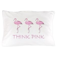 Breast cancer flamingo Pillow Case