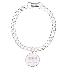 Breast cancer flamingo Bracelet