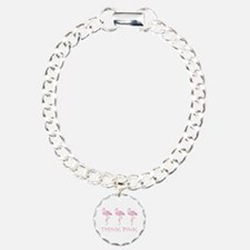 Breast cancer flamingo Bracelet
