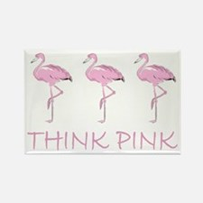 Breast cancer flamingo Magnets