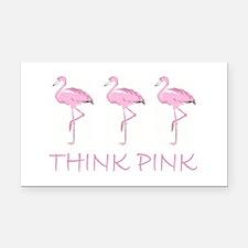 Breast cancer flamingo Rectangle Car Magnet