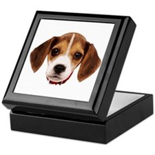 Beagle face 002 Keepsake Box