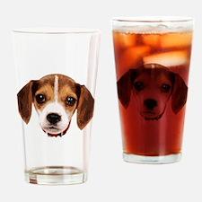 Beagle face 002 Drinking Glass