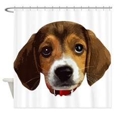 Beagle Face 003 Shower Curtain