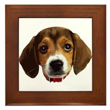 Beagle Face 003 Framed Tile
