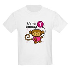 Monkey 1st Birthday T-Shirt
