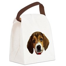 Beagle Face 003 Canvas Lunch Bag