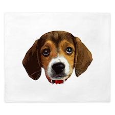 Beagle Face 003 King Duvet