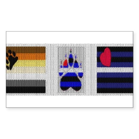 BEAR &LEATHER PRIDE AND PAW Rectangle Sticker