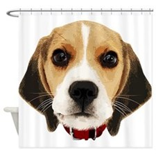 Beagle Face 004 Shower Curtain