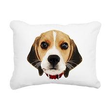 Beagle Face 004 Rectangular Canvas Pillow