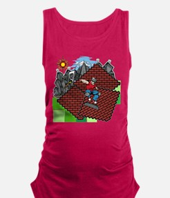 blockcraft city skater Maternity Tank Top