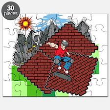 blockcraft city skater Puzzle