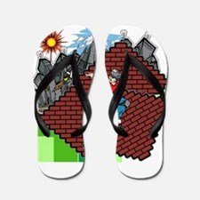 blockcraft city skater Flip Flops