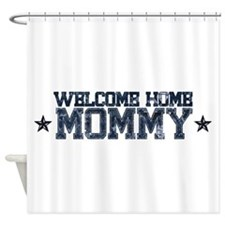 Welcome Home NAVY Mommy Shower Curtain