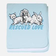 Rescued Love baby blanket