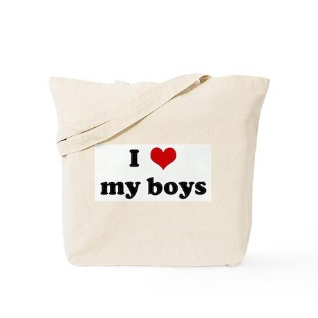I Love my boys Tote Bag