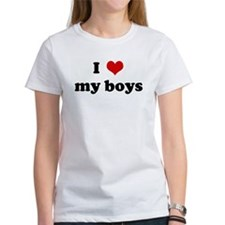 I Love my boys Tee
