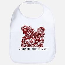 Chinese Zodiac Paper Cut Horse Bib