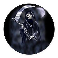 Grim Reaper (nb12) Round Car Magnet