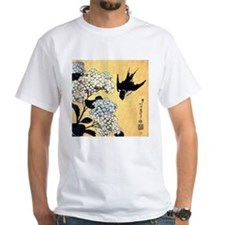 Hydrangea and swallow by Hokusai T-Shirt