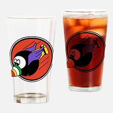 Flying 8ball Drinking Glass