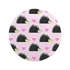 """Cute Happy Hedgehog Love Pattern in Pink 3.5"""" Butt"""