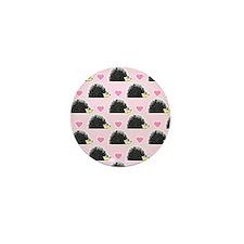 Cute Happy Hedgehog Love Pattern in Pink Mini Butt