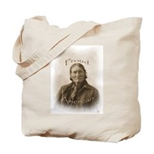 Geronimo, Proud American Tote Bag
