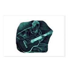invert acoustic guitar player sitting pencil sket