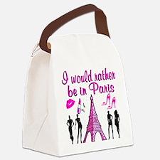 BONJOUR PARIS Canvas Lunch Bag