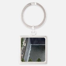 September 11 Memorial NYC Square Keychain
