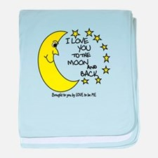 I LOVE YOU TO THE MOON AND BACK baby blanket