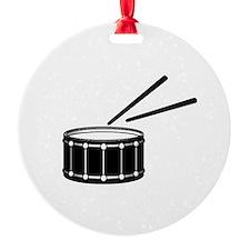 black snare graphic with sticks Ornament