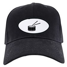 black snare graphic with sticks Baseball Hat