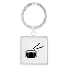 black snare graphic with sticks Keychains