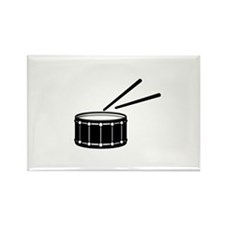 black snare graphic with sticks Magnets